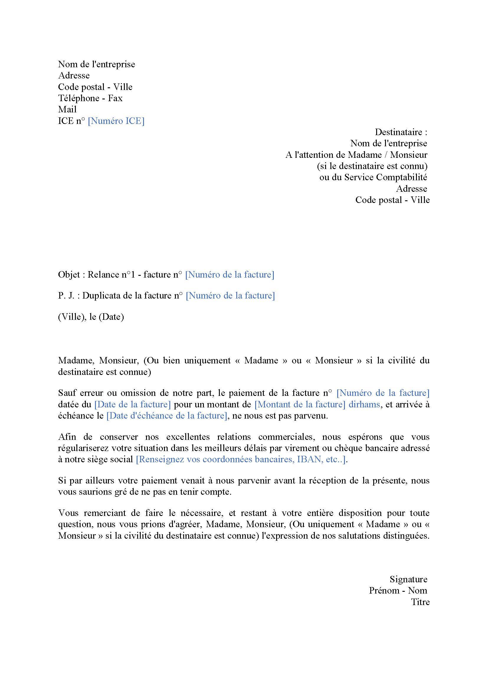 lettre_de_relance_client | Le Journal d'Annonces Légales